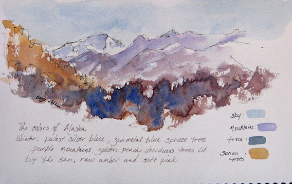 Alaska Winter Sketch 5