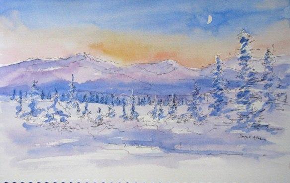 Winter Eureka Moon at Four O'Clock