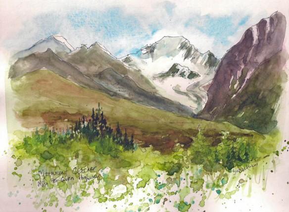 Monument Glacier  Sketch