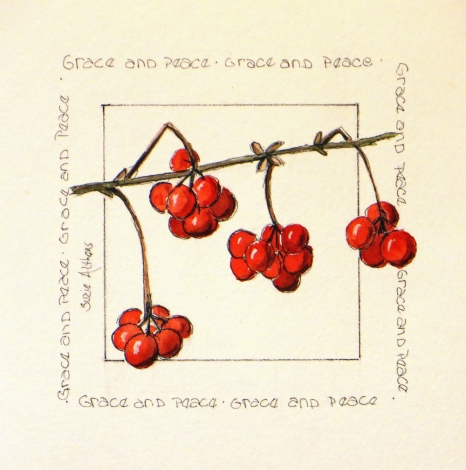 Christmas Square berries