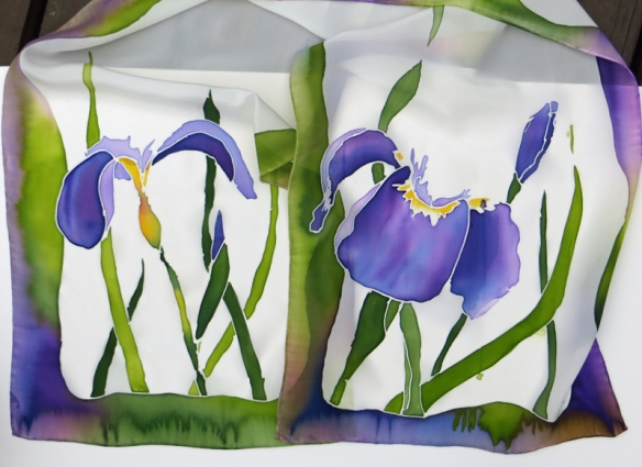 Iris/Siberian Flag on silk